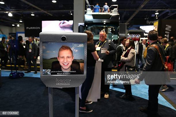 Interactive call center technology display during the 2017 Consumer Electronics Show in Las Vegas Nevada USA on January 08 2017