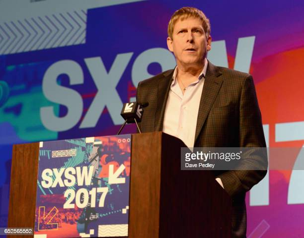 Interactive director Hugh Forrest speaks onstage at the Convergence Keynote during 2017 SXSW Conference and Festivals at Austin Convention Center on...