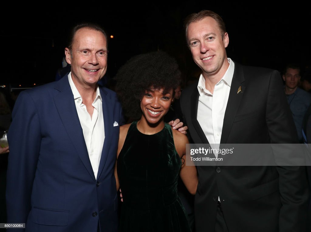 Interactive President and CEO Armando Nunez,Sonequa Martin-Green, CBS Interactive President and COO Marc DeBevoise attend the after party for the premiere of CBS's 'Star Trek: Discovery' at the Dream Hotel on September 19, 2017 in Los Angeles, California.
