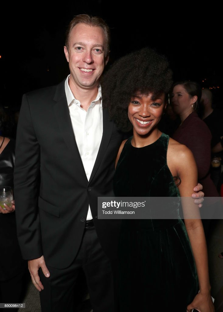 Interactive President and COO Marc DeBevoise and Sonequa Martin-Green attend the after party for the premiere of CBS's 'Star Trek: Discovery' at the Dream Hotel on September 19, 2017 in Los Angeles, California.
