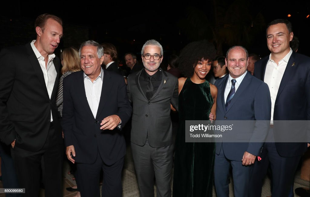 Interactive President and COO Marc DeBevoise, Leslie Moonves, Executive Producer Alex Kurtzman, Sonequa Martin-Green, CBS Television Studios President David Stapf and CBS Interactive CEO Jim Lanzone attend the after party for the premiere of CBS's 'Star Trek: Discovery' at the Dream Hotel on September 19, 2017 in Los Angeles, California.