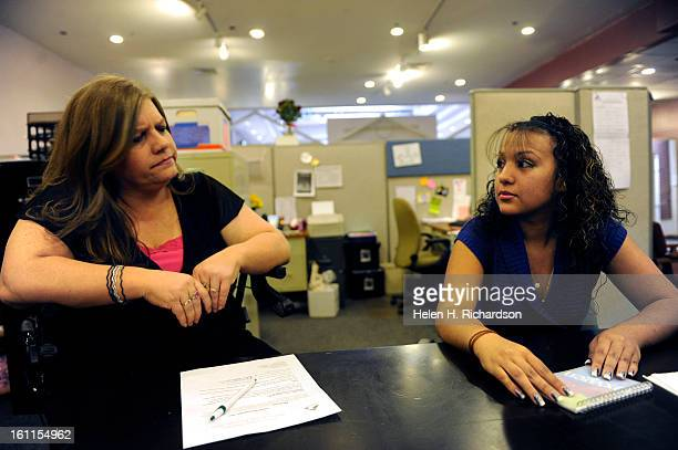 Intercept Too counselor Kimberly Bolding listens to former gang banger Guadalupe Herrera now 15 talk about when at only 11 she chased down and beat...