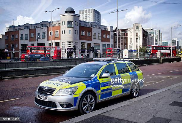 anpr interceptor police car in croydon - metropolitan police stock pictures, royalty-free photos & images