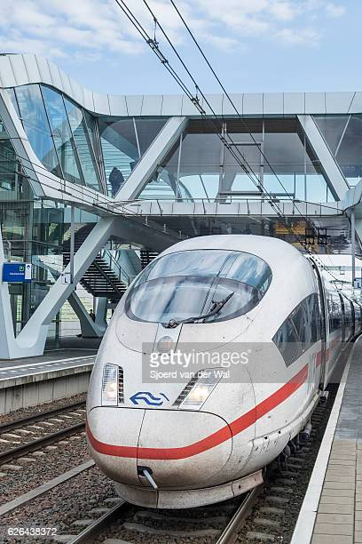 ICE -Intercity Express- high speed train arriving at the station