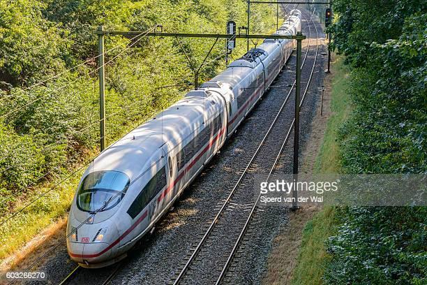 Intercity Express (ICE) train of the Deutsche Bahn (DB)