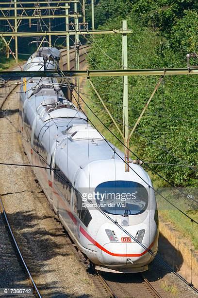 "intercity express (ice) train of the deutsche bahn (db) - ""sjoerd van der wal"" stock pictures, royalty-free photos & images"