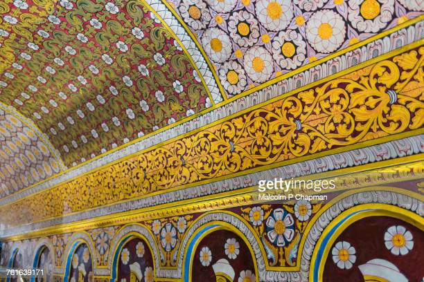 interesting ceilings - sri lankan culture stock pictures, royalty-free photos & images