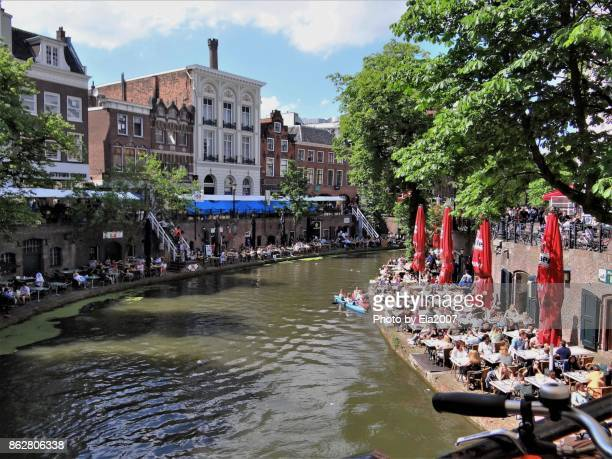 interesting city utrecht - utrecht stockfoto's en -beelden
