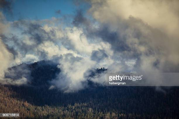 Interesting Clouds Over Kings Canyon National Park, California