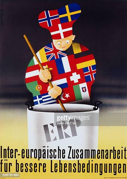 InterEuropaische Zusammenarbeit Poster by Alfred Lutz