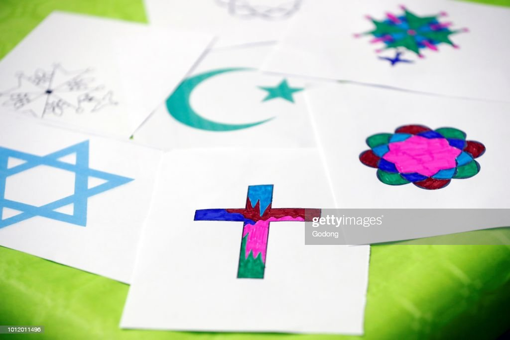 Interfaith Dialogue Symbols Of Islam Judaism And Christianity