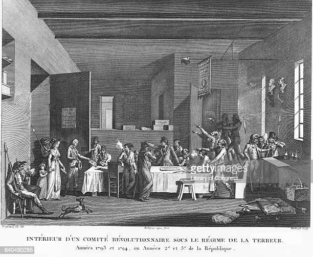 'Interieur d'un comite revolutionnaire dous le regime de la terreur' by Berthault After Jean Honore Fragonard