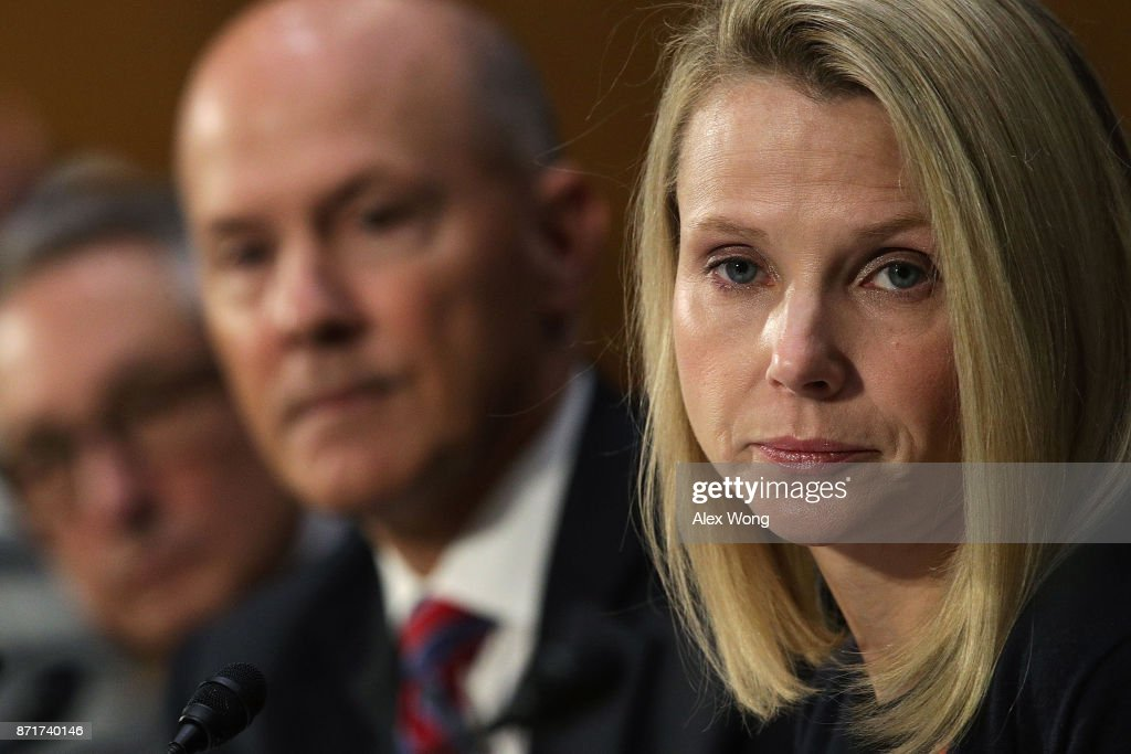 Former Yahoo CEO Marissa Meyer And Interim CEO Of Equifax Paulino Barros Testify To Senate Committee On Data Breaches