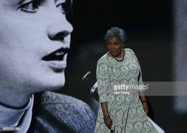 Interim chair of the Democratic National Committee Donna Brazile walks on stage to deliver remarks the second day of the Democratic National...