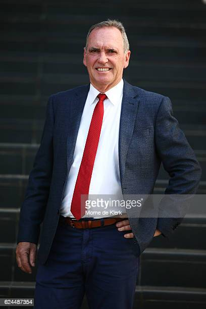 Interim Chairman of Selectors Trevor Hohns poses for a photograph after speaking to the media during a Cricket Australia press conference at Adelaide...