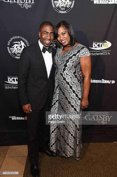 Interim Dekalb County CEO Lee May and wife Robin May attend 2014 Black Tie Holiday Scholarship Ball at Thalia N Carlos Hellenic Community Center on...