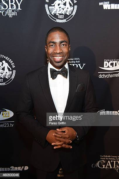 Interim Dekalb County CEO Lee May attends 2014 Black Tie Holiday Scholarship Ball at Thalia N Carlos Hellenic Community Center on December 14 2014 in...