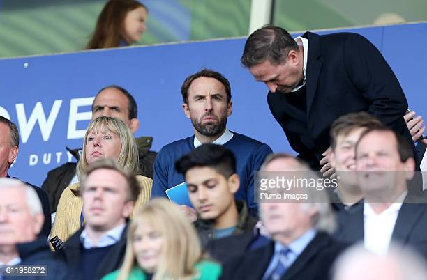Interim England Manager Gareth Southgate at King Power Stadium during the Barclays Premier League match between Leicester City and Southampton at the...