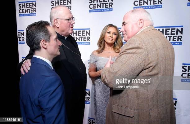 Interim Executive Director of the Sheen Center David Dicero Cardinal Timothy Dolan Vanessa Williams and Steve Columbia attend Sheen Center presents...