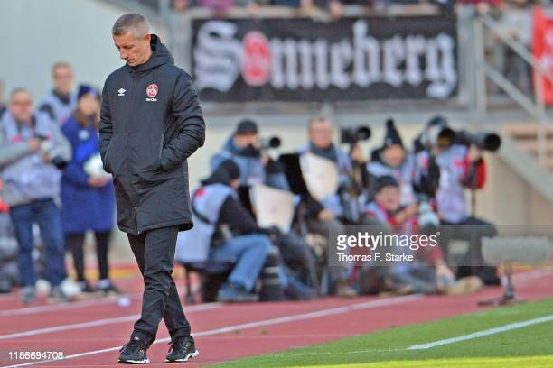 Interim head coach Marek Mintal of Nuernberg walks away during the Second Bundesliga match between 1. FC Nuernberg and DSC Arminia Bielefeld at...