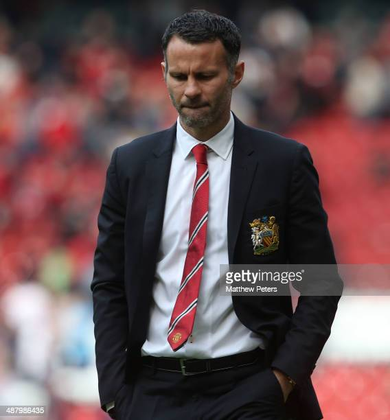 Interim Manager Ryan Giggs of Manchester United walks off after the Barclays Premier League match between Manchester United and Sunderland at Old...