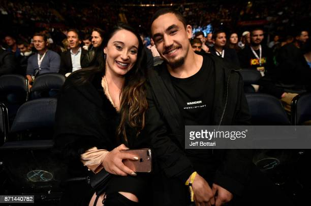 Interim Middleweight Champion Robert Whittaker and wife Sofia attend the UFC 217 event inside Madison Square Garden on November 4 2017 in New York...