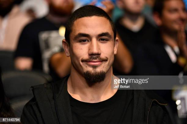 Interim Middleweight Champion Robert Whittaker attends the UFC 217 event inside Madison Square Garden on November 4 2017 in New York City