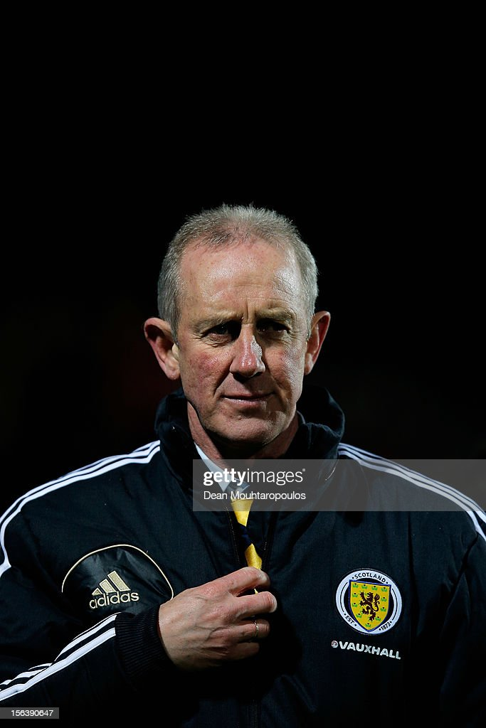 Interim Scotland manager, Billy Stark looks on after the International Friendly match between Luxembourg and Scotland at Stade Josy Barthel on November 14, 2012 in Luxembourg, Luxembourg.