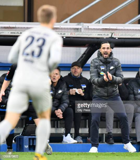 Interim trainer Alexander Nouri of Hertha BSC during the game between the SC Paderborn 07 against Hertha BSC on february 15 2020 in Paderborn Germany