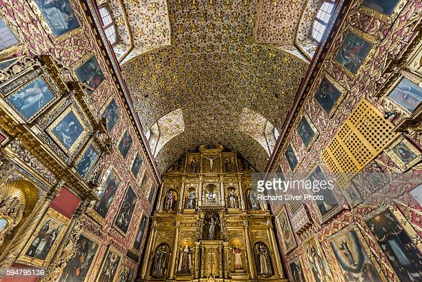 Interior altar view of Santa Clara Bogota, Colombia