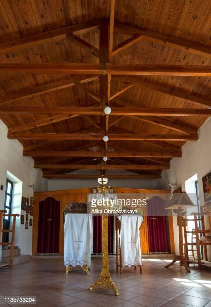 interior decoration greek orthodox church with