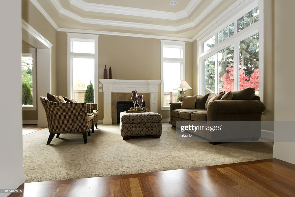 Hardwood Floors Living Room Model Luxury Showcase Living Room Interior Architectural Design Windows .