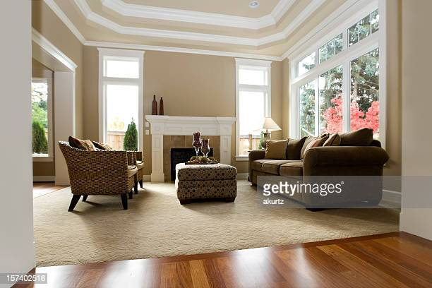 interior architecture new luxury living room modern - carpet decor stock photos and pictures