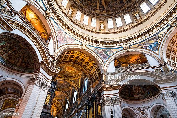Interior Architecture of St Paul's Cathedral, London, UK