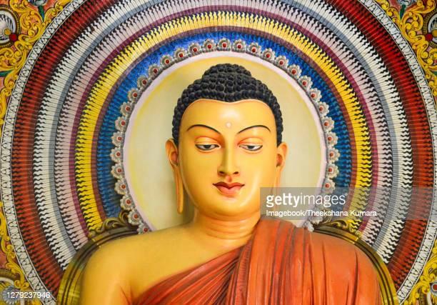interior buddha statue wijithapura rajamaha viharaya - imagebook stock pictures, royalty-free photos & images