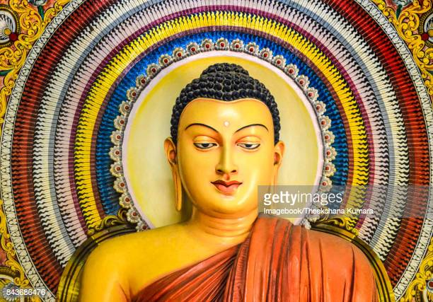 Interior Buddha Statue Wijithapura rajamaha viharaya.