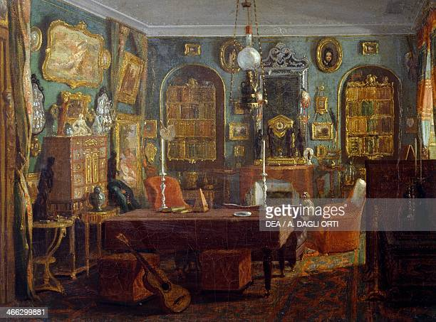 Interior ca 1880 by Leon Auguste Melle