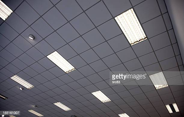 Fluorescent light stock photos and pictures getty images interior ceiling panels with strip lights mozeypictures Choice Image