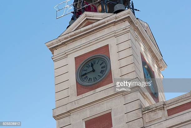 Interior Clock or Watch the Puerta del Sol in Madrid is a watch tower placed in a shrine on the Casa de Correos in Puerta del Sol 1866 after spending...