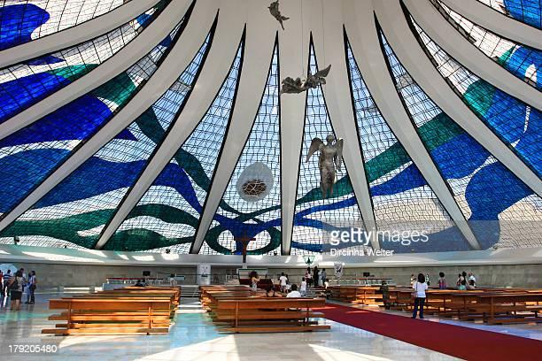 CONTENT] Interior da Catedral Metropolitana de Brasília Inside Metropolitan Cathedral of Brasilia Catedral Metropolitana Nossa Senhora Aparecida...