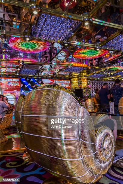 Interior decor at Robot Restaurant in Kabukicho Shinjuku where robotic women and demons stage mock battles in this steroid heavy attraction with neon...