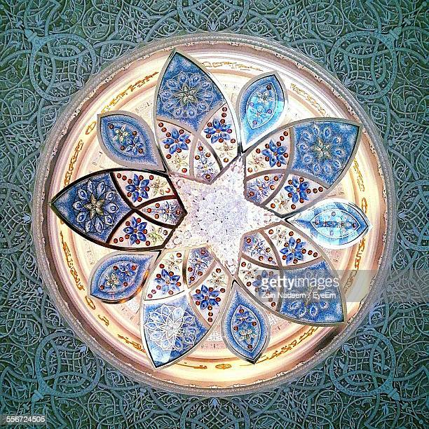 interior decoration of sheikh zayed grand mosque - mosque stock pictures, royalty-free photos & images