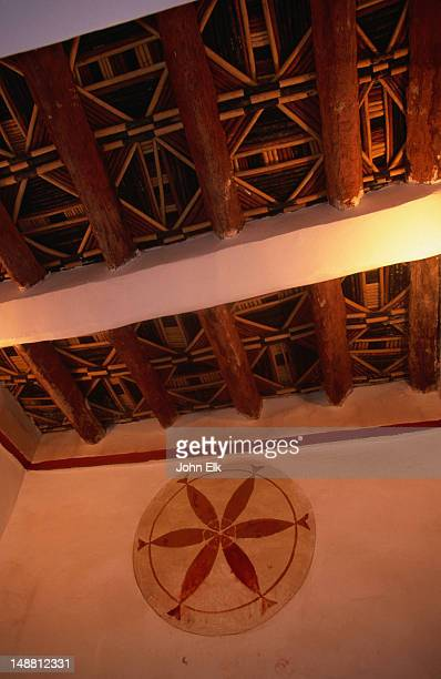 interior decorations of the taourirt kasbah. - kasbah of taourirt stock pictures, royalty-free photos & images