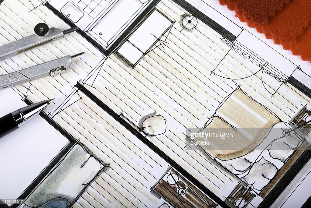 Decorazioni piano interno : Foto stock