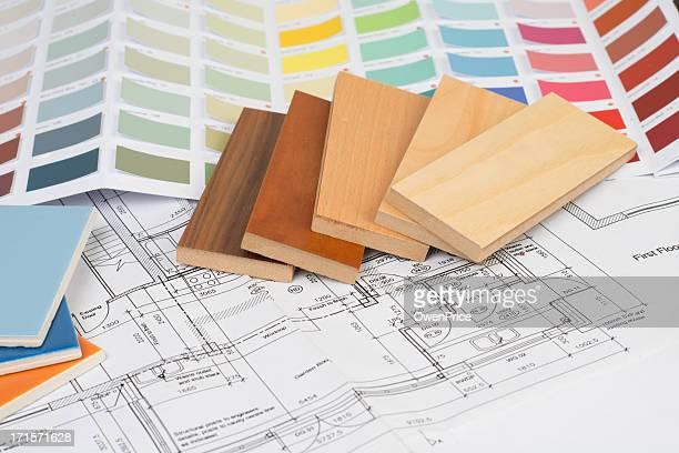 Interior design flooring tiles and color scheme choices
