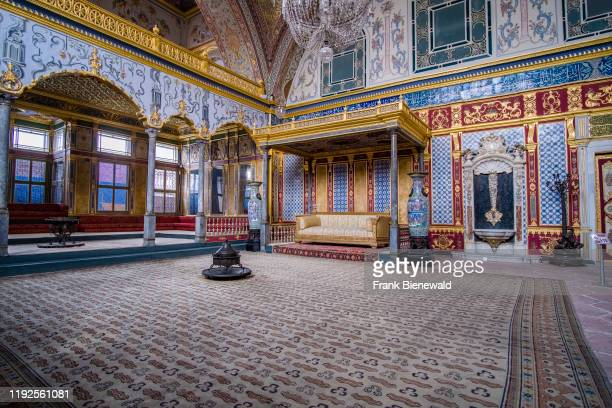 Interior design of the Imperial Hall Hünkâr Sofas one of the most impressive rooms in the Harem at Topkap Palace