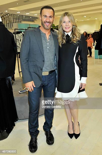 Interior designer Adam Hunter and Host Lynn Rosenthal attend a cocktail  event with Barneys New York