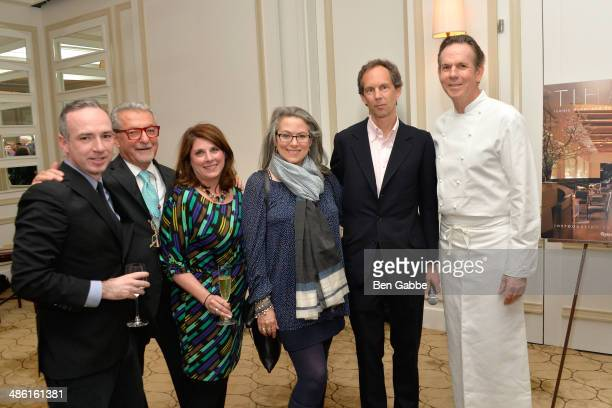 interior designer Adam Tihany Charles Meyers and chef Thomas Keller with the Rizzoli family at Adam Tihany's Book Launch Event on April 22 2014 in...