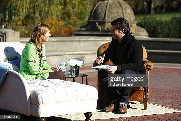 Interior designer and decorator Nate Berkus offers design therapy to members of the public during a taping of 'The Nate Berkus Show' in Central Park...