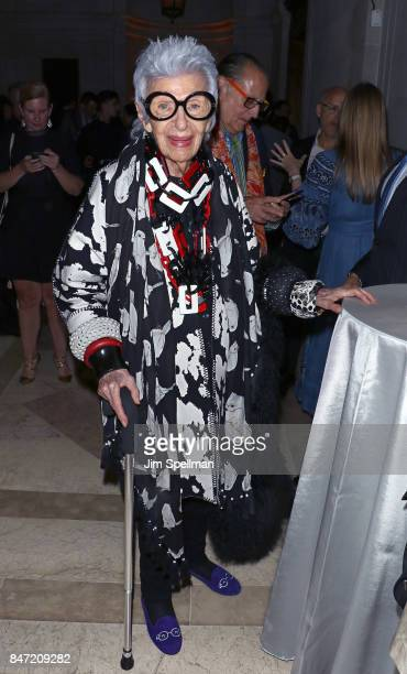 Interior designer Iris Apfel attends the premiere of 'Manolo The Boy Who Made Shoes For Lizards' hosted by Manolo Blahnik with The Cinema Society at...